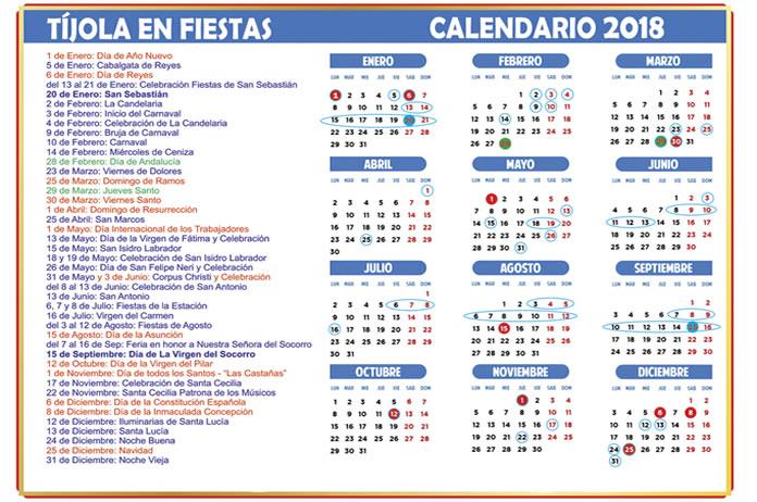 Circuito Los Arcos Calendario 2018 : Calendario de fiestas y eventos en tíjola
