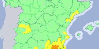 Alerta por lluvias fuertes en Tíjola