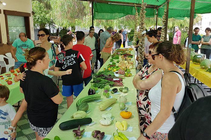 Feria agrícola de Tíjola imágen de archivo