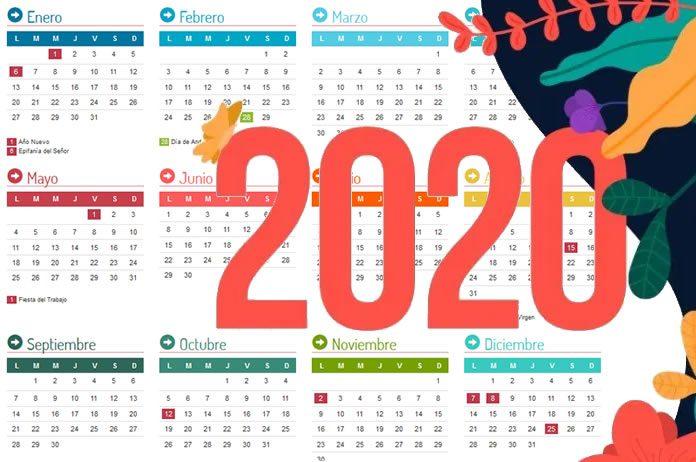 Calendario 2020 de Tíjola