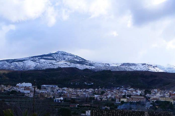 Nieve en Tíjola