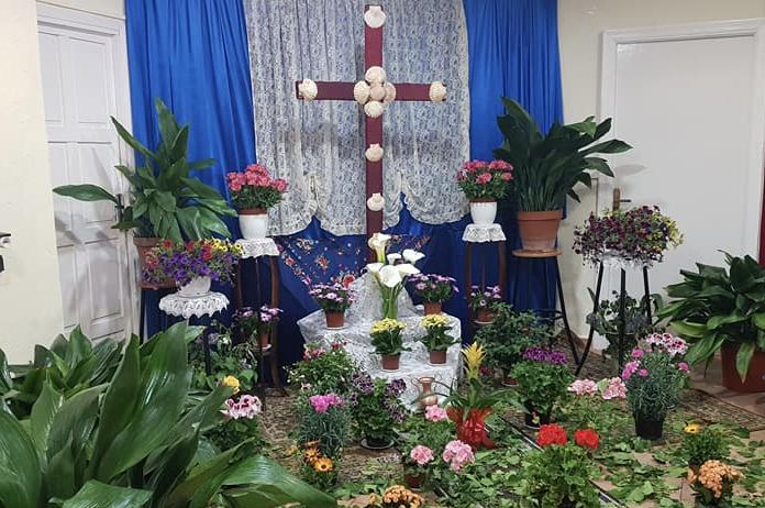 Cruz de mayo en Tíjola