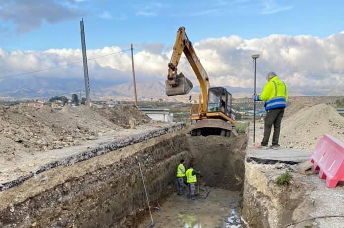 Carretera de Tíjola en obras