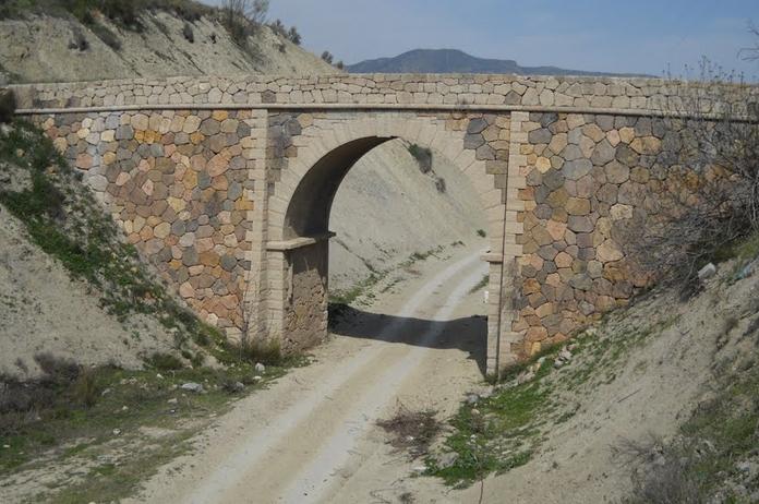 Puente de Tíjola afectado por el derrumbe