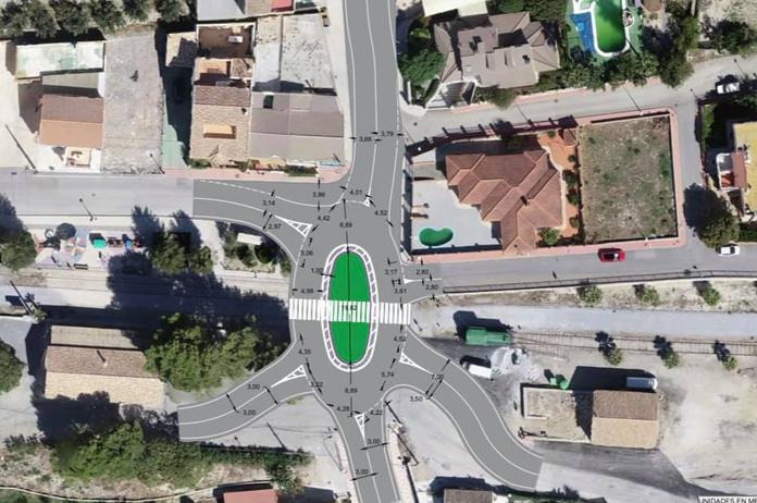 Rotonda en el cruce de la Estación-Higueral de Tíjola dentro del Plan Viario 2021